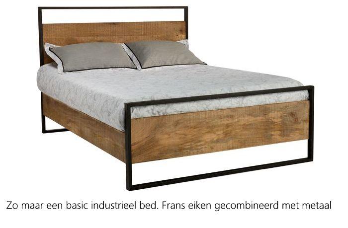 Industriële bedden. Je koopt ze bij alleseiken.nl