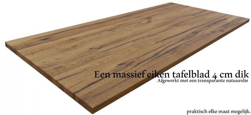 Oud eiken tafelbladen 100 handwerk for Tafelblad maken