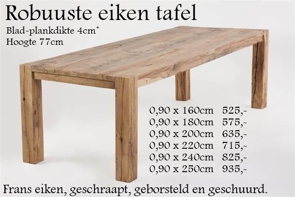 Favoriete oud eiken eettafel super massief. - Eikenrijk.nl &LP15