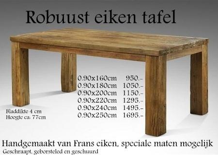 Zwaar Eiken Eettafel.Oud Eiken Eettafel Super Massief Eikenrijk Nl