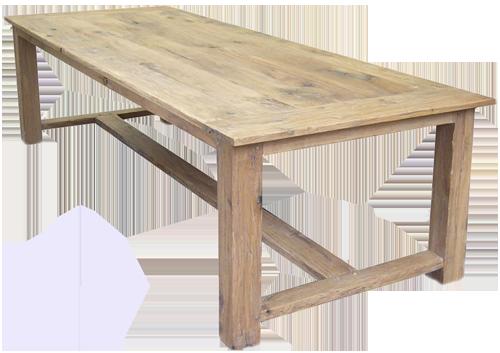 Robuuste Eiken Tafel : Robuuste tafel met metalen onderstel liam eiken tafel met