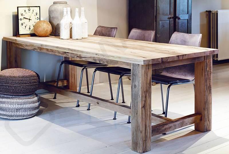 Massief Houten Tafel : Houten tafels bouwpakket we bouwen ze ook kant klaar eikenrijk